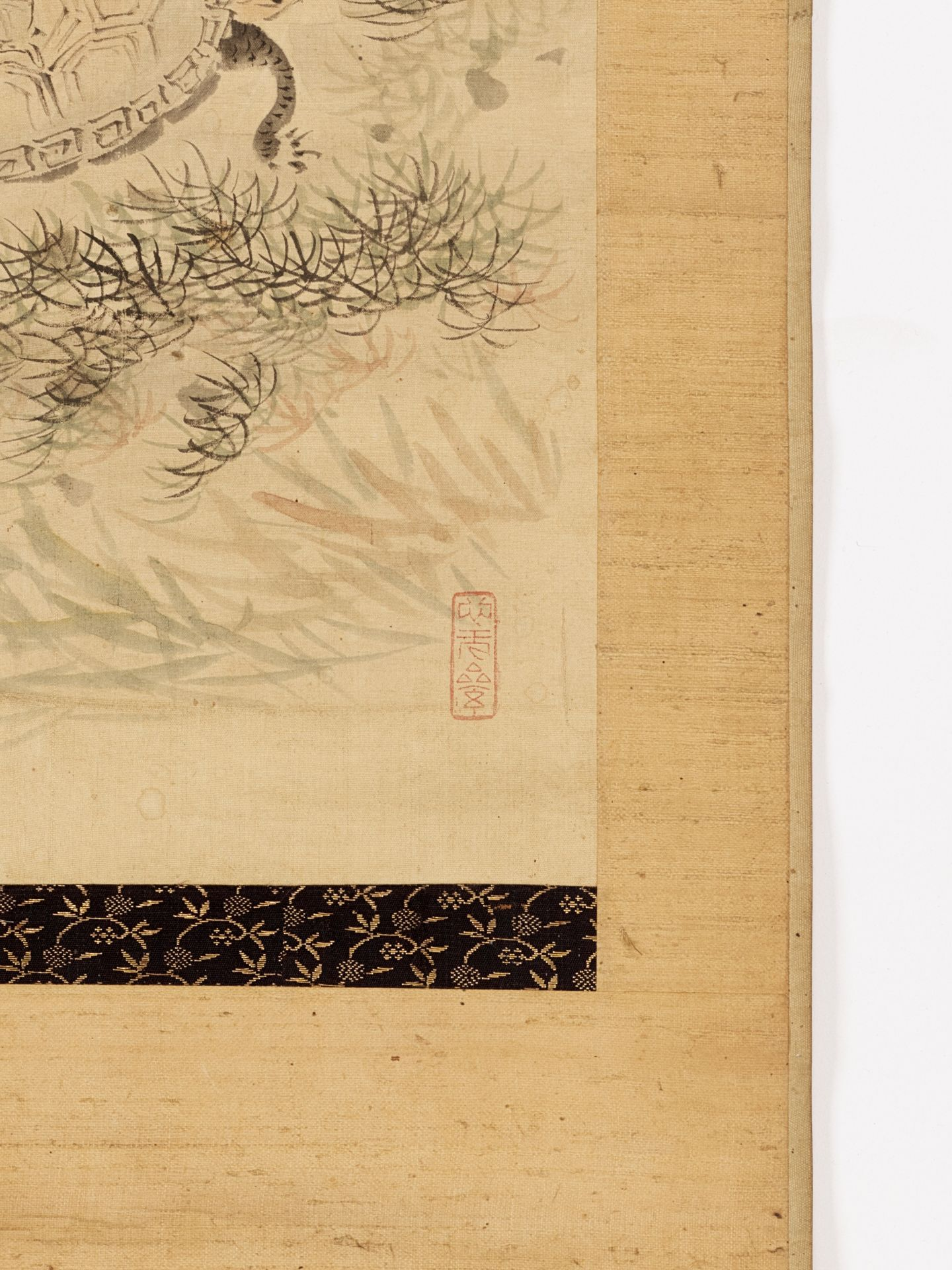 KISSO: A SCROLL PAINTING OF TURTLES - Image 5 of 6