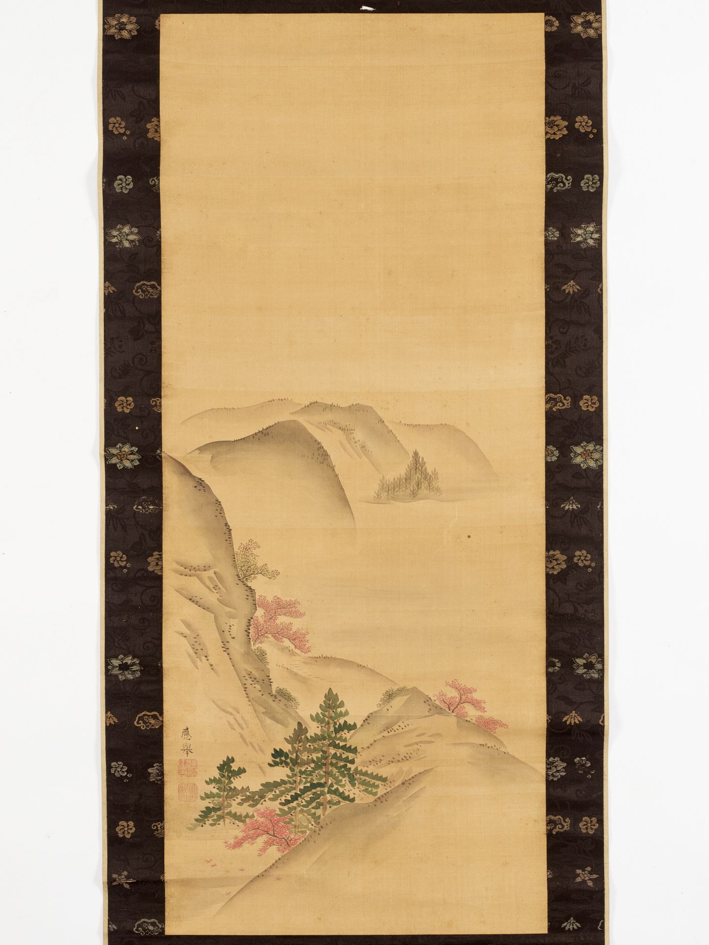 MARUYAMA OKYO: A SCROLL PAINTING OF A HILLY LANDSCAPE