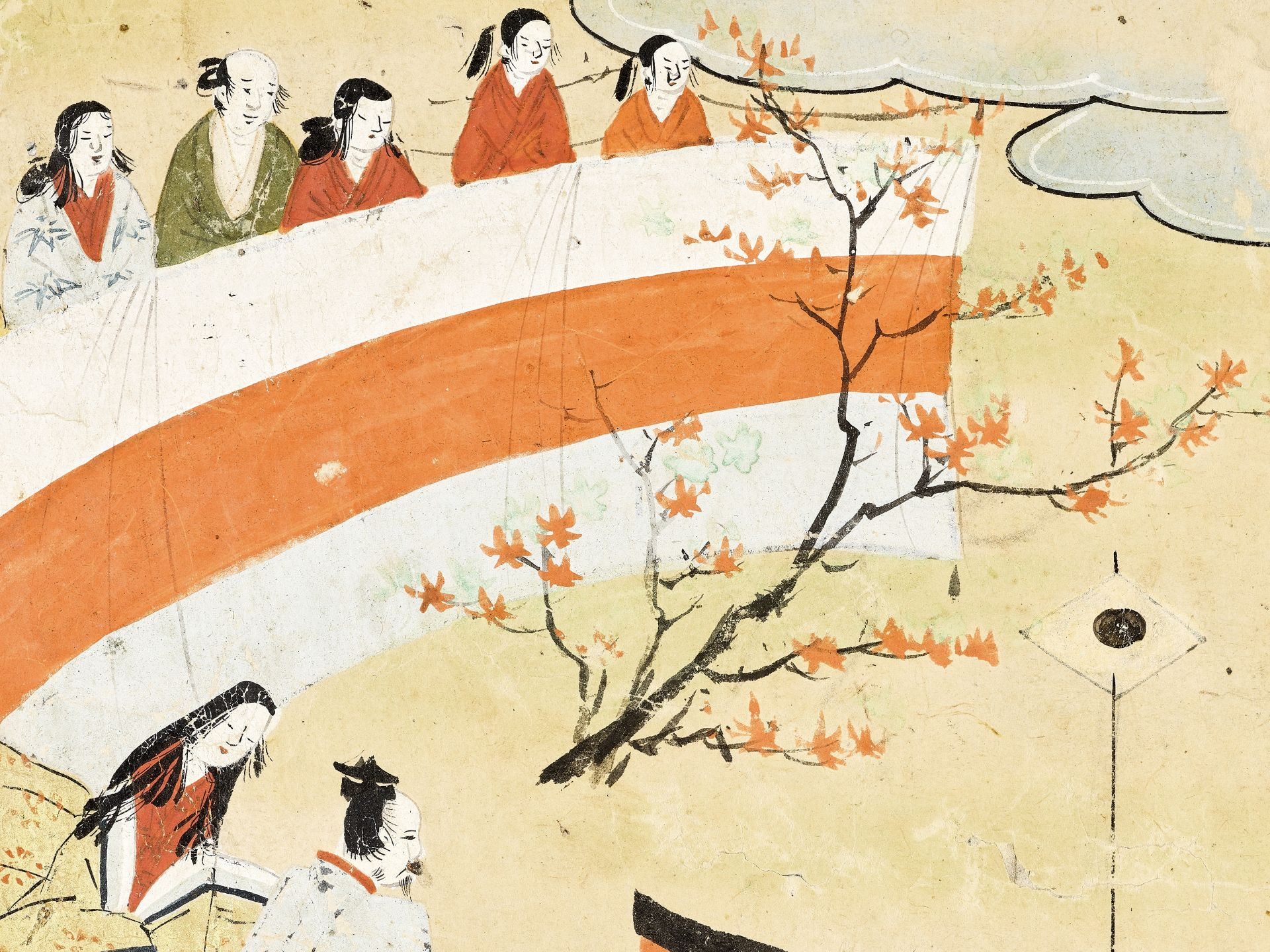 A SMALL JAPANESE PAINTING - Image 2 of 3