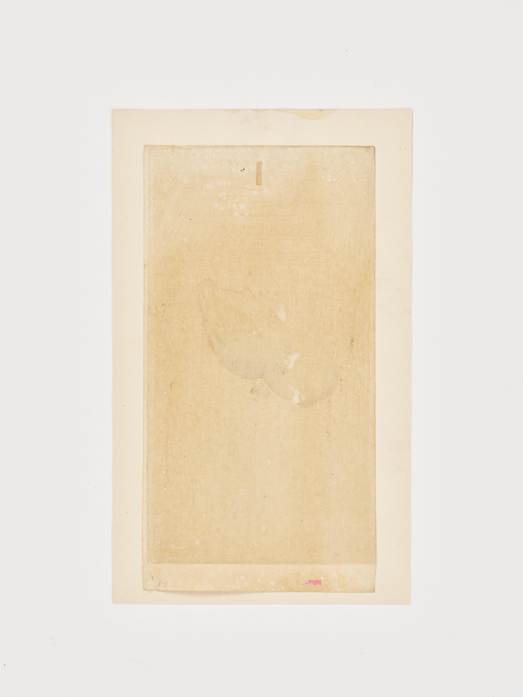 OHARA KOSON: A COLOR WOODBLOCK PRINT OF TWO MOORHENS - Image 6 of 6
