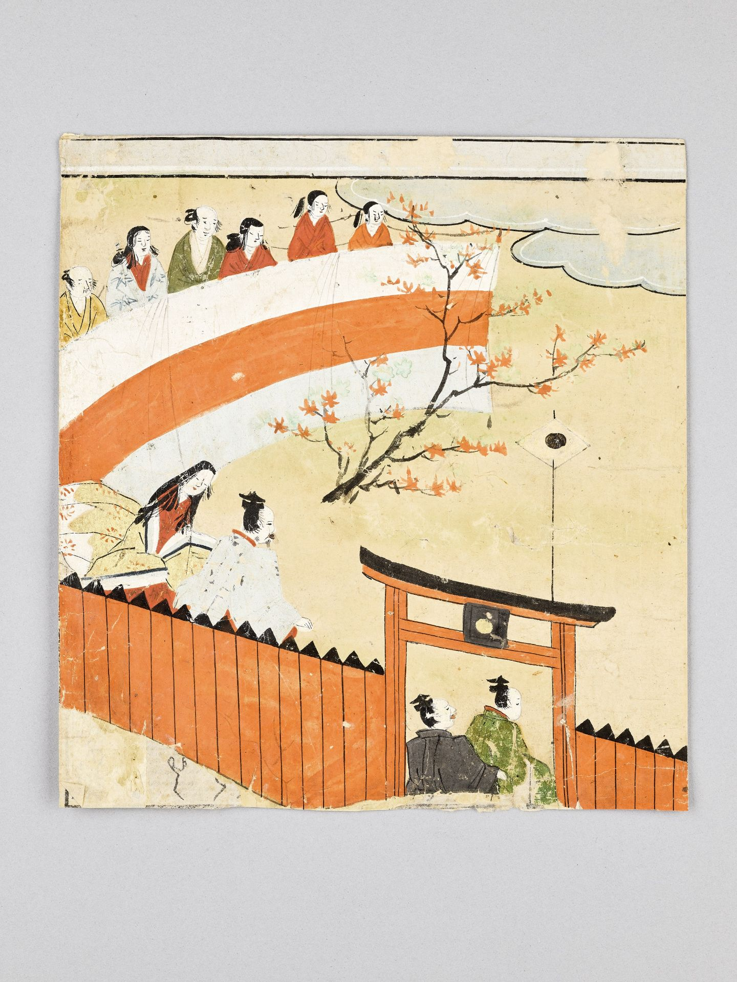 A SMALL JAPANESE PAINTING