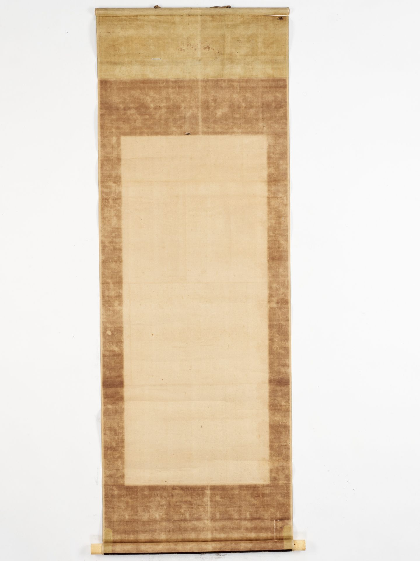 MARUYAMA OKYO: A SCROLL PAINTING OF A HILLY LANDSCAPE - Image 6 of 6