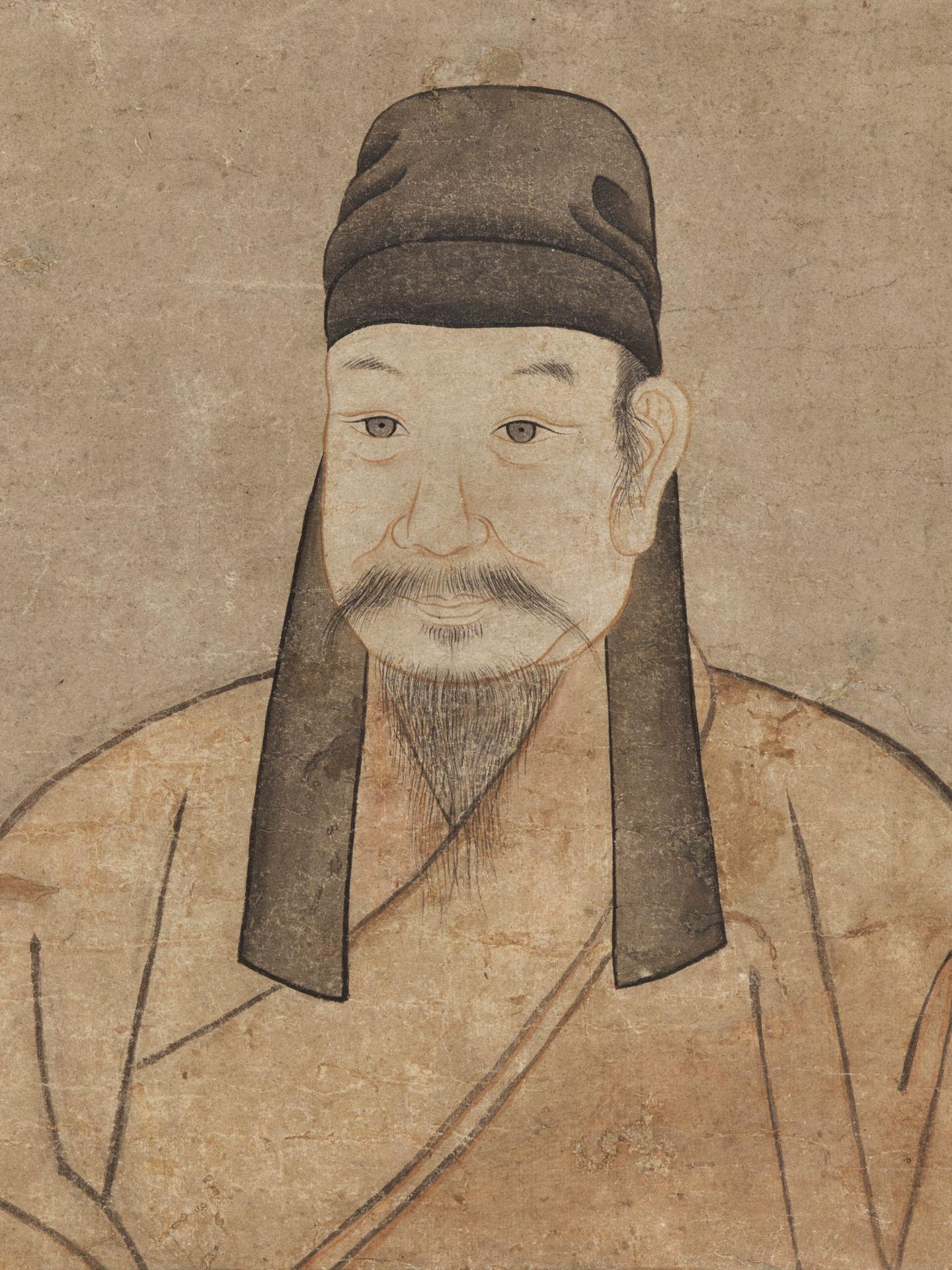 ANCESTOR PORTRAIT', KOREAN SCHOOL, JOSEON DYNASTY - Image 2 of 4