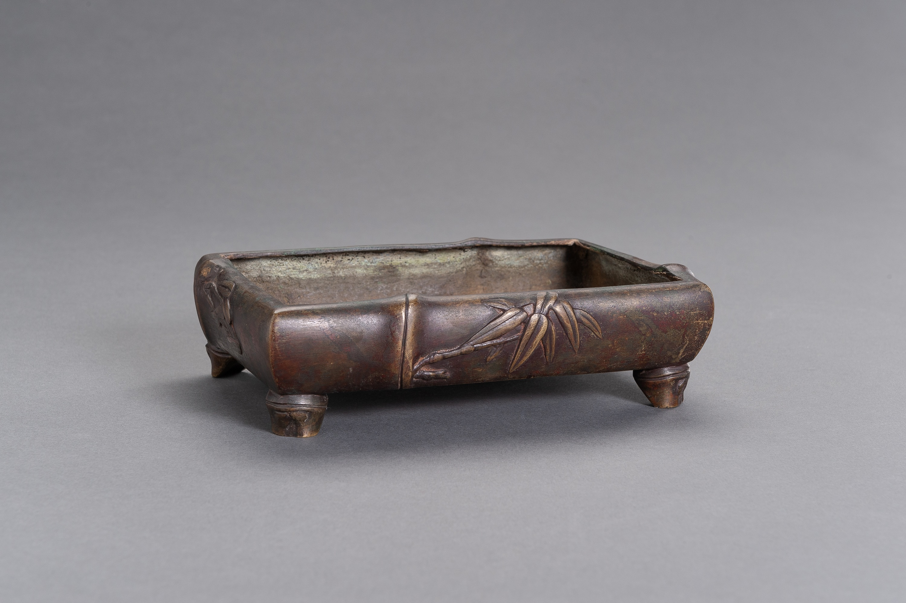 A 'BAMBOO' BRONZE CENSER - Image 2 of 8