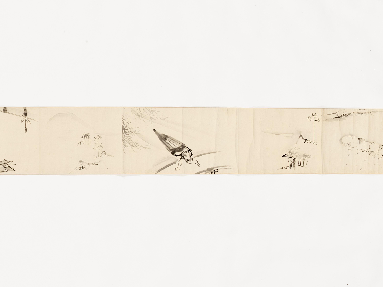 A MAKIMONO WITH TEN SCENES - Image 4 of 8