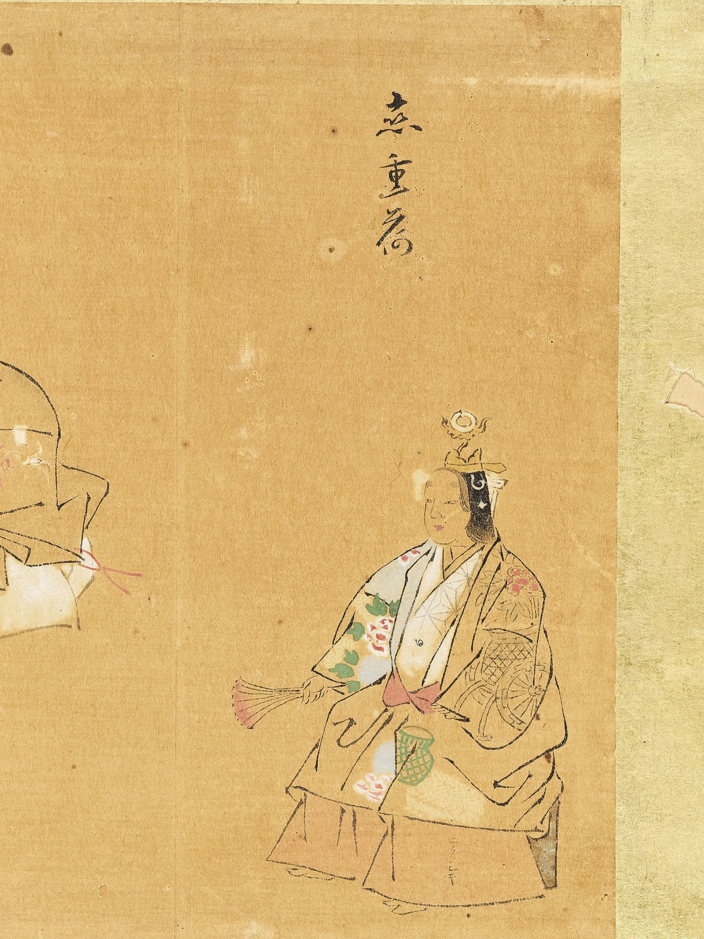 A SMALL PAINTING OF TAOIST FIGURES, 19TH CENTURY - Image 3 of 4