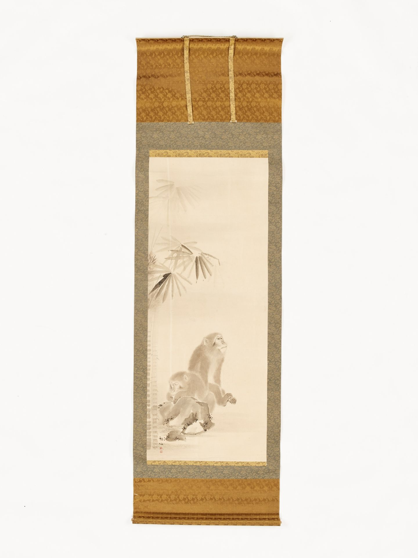MORI SOSEN: A FINE SCROLL PAINTING OF TWO MONKEYS - Image 4 of 8