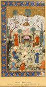 PERSISCHE MINIATUR AUS SCHAHNAMEH VON ABU L-QASEM - E FIRDAUSI (940–1020)