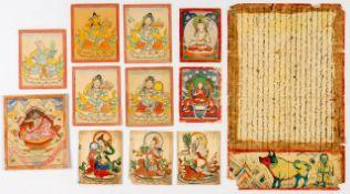 12 BUDDHISTISCHE MINIATUREN