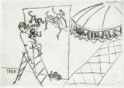 Mohr, Arno - Als Schildermaler auf Montage (1927), Blatt 9 aus der Folge: Mein Lebenslauf