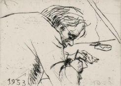 Mohr, Arno - Selbst beim Zeichnen (1953)