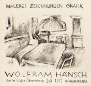 Plakate - Hänsch, Wolfram: (Interieur mit sitzender Figur)