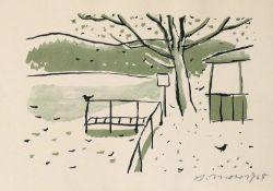 Mohr, Arno - Bootssteg im Herbst