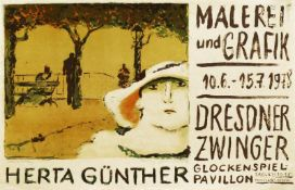Plakate - Günther, Herta: Dame mit Hut