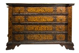 Exceptional dresser, Lombardy origin, workshop Caniana, mid eighteenth century, Allegedly by Giovan
