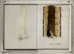 """Bernard Aubertin, Applications of matches and combustion of the book """"Bernard Aubertin, the fire and"""