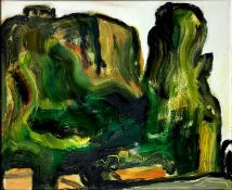 """Virgilio Guidi (Venice 1891- 1984). Oil painting on canvas """"Terracina"""" 19876, Signed on the lower ri"""