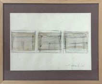 Vincenzo Cecchini, Mixed media and collage on paper, depicting abstract composition (three pictures)