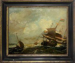 Sea with sailing ships