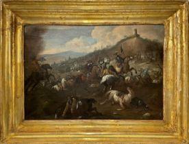 Antonio Calza War scene between European militias