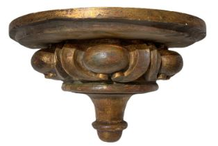 Wall shelf in golden wood, late 19th century.