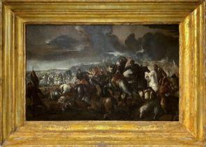 Antonio Calza Battle between Christian and Turkish militias