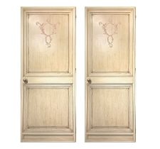 Pair of lacquered doors