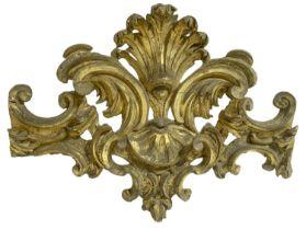 Frieze in golden wood leaf, century XVII, Sicilian baroque