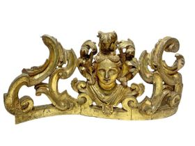 Great frieze in leaf golden wood, Sicilian baroque
