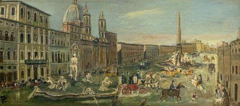 Lake Piazza Navona in Rome