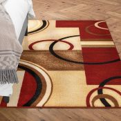 Wade Logan,Barclay Red Area Rug160 cm x 220 cm RRP -£86.99 (9028/6 -WEWO1015)