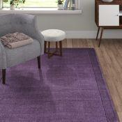 Marlow Home Co.,Durbin Hand-Woven Purple Area Rug160 CM X 230 CM RRP -£185.99 (12092/21 -AITC1229)