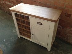 Hampshire White Small Wine Rack Sideboard (G66-45 -HP-SWR-W)