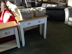 Suffolk White Painted Oak Hall Table (G66-13 -TT-CON-W) (MISSING SHELVE)