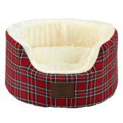 Archie & Oscar, Attleborough Bolster Cushion in Red Size: Small (45cm W x 35cm D x 12cm H) X2 (