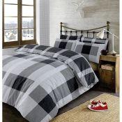 Alpen Home, Buena Vista Cover Duvet Set Size: Double - 2 Standard Pillowcases, Colour: Black(HL7 -