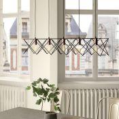 Dar Lighting, Midi 5-Light Kitchen Island Pendant (BLACK/COPPER) - RRP£81.99(DLI7429 - 11242/1)1A
