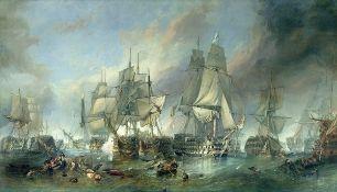 Breakwater Bay, The Battle of Trafalgar, 1805 by Clarkson R.A. Stanfield Art Print on Canvas Size: