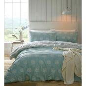 Brambly Cottage, Byers Duvet Cover Set Colour: Coral, Size: Kingsize - 2 Standard Pillowcases(