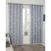 Mack + Milo, Saucier Galaxy Eyelet Blackout Thermal Curtains Curtain Colour: Navy, Panel Size: Width