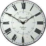 Fleur De Lis Living,Peuplier 50cm Wall Clock RRP -£41.99 (13774/24 -LAKM1278)