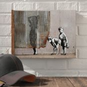 Hokku Designs,Exposed Kids by Banksy Graphic Art on Wrapped Canvas RRP -£15.99 (13774/37 -HOKU5381)