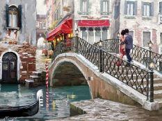 East Urban Home,'Venice Bridge' Print on Canvas RRP -£44.99 (14692/7 -CACA6628)