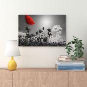 East Urban Home,Lovely Poppy Field in Summer Wall Art on Canvas RRP -£49.99 (13774/38 -EXXP2341)