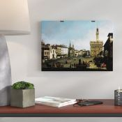 East Urban Home,'Piazza Signora, Florence' by Giovanni Canaletto Painting Print RRP -£23.99 (15583/2