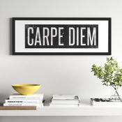 East Urban Home,'Carpe Diem' Textual Art RRP -£26.82 (14610/22 -HVO26618)