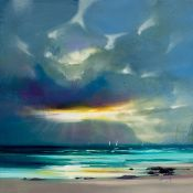 East Urban Home,'West Coast Blues II' Painting Print RRP -£50.99 (14610/23 -APET2801)