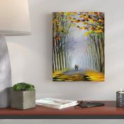 Hokku Designs,Walk in the Park Painting Print on Wrapped CanvasRRP -£29.99 (15266/27 -HOKU5567)