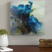 Marmont Hill,'Spring Blue Flowers' by Irena Orlov Painting Print on Wrapped Canvas RRP -£163.99 (
