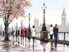 East Urban Home,'Thames View' Print on Canvas RRP -£22.99 (14610/12 -CACA6624)
